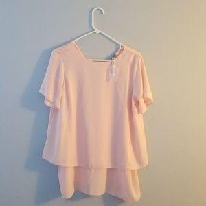 Light pink ASOS maternity blouse